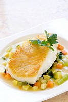 Sea bass on vegetables