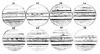 Drawings of Jupiter, by the British clergyman and astronomer Thomas William Webb 1807_1885. These eight drawings are part of a series and are numbered...