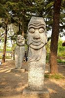 Stone figures at Gyeongbokgung Palace, National Folk Museum, Seoul, South Korea