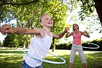 Mother and daughter with hula_hoop