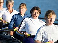 Female Crew Team Rowing