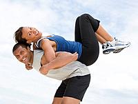 African couple in athletic clothing (thumbnail)