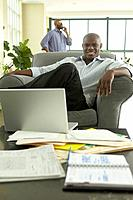 African businessman looking confident in office