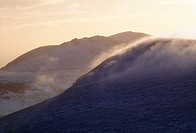 Mourne Mountains, County Down, Ireland, Misty mountain landscape