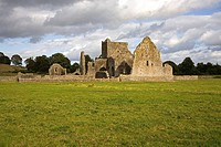 Hore Abbey, Cashel, County Tipperary, Ireland, Abbey ruins in field