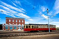 Trolley in Fort Edmonton, Alberta, Canada