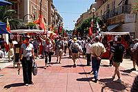 Crowded streets at the Formula 1 Grand Prix, F1, Monte Carlo, Monaco, Europa