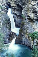 A waterfall, Lower Falls, Johannes Canyon, Rocky Mountains, Alberta, Canada