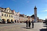 Marketplace in Domazlice, Czech Republic