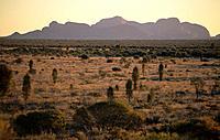 view to Kata Tjuta Olgas, Uluru National Park, Central Australia, Northern Territory, Australia