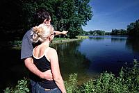 Couple in Nymphenburger Park, Munich, Baavaria, Germany