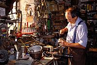 A man, Antique dealer in Carosa, Ticino, Switzerland