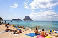 Cala d Hort, Island Es Vedra, Ibiza, Balearic Islands, Spain