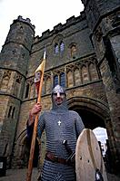 Knight, Reenactment, Battle Abbey, Battle, East Sussex, England, United Kingdom