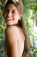 Smiling young hispanic woman