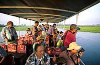 Morning cruise on the wetlands of Yellow Water, Kakadu National Park, Northern Territory, Australia