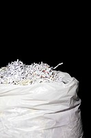 Bag full of shredded documents