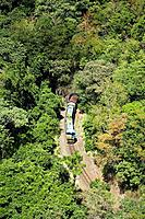 Kuranda Scenic Railway, Barron Gorge, Cairns, North Queensland, Australia - aerial