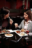 Businesswomen having lunch together (thumbnail)