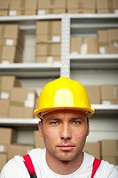 Portrait of a man wearing a hard hat