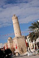 Sousse Ribat, Tunisia. It is the most famous and wellknown ribat in Tunisia. It was built 787 _ 821 AD.