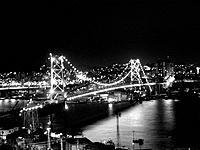 florianopolis illuminated view of the bridge