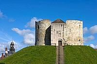 York, Clifford´s Tower, 1250-1275, by Henry III, North Yorkshire, UK