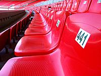 belo horizonte mg numbered chairs in mineirao soccer stadium