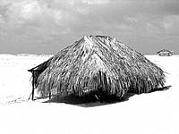 sao luis do maranhao rustic tent house in the beach sand dunes