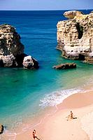 portugal algarve beach shore coast nature with people playing a game