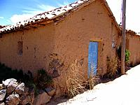 peru old and rustic house made with muds and clays