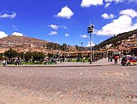 peru large park square garden area with people