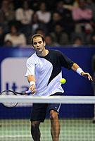 Santiago, Chile (24th June 2008). Pete Sampras at the exhibition match (Duelo de Maestros) against Marcelo Rios on the Arena Santiago