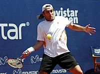 Viña del Mar, Chile (31st January 2008). Spanish tennis player Santiago Ventura playing at Viña del Mar ATP tennis tournament
