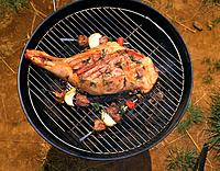 Roasted Lamb, High Angle View