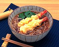 Tempura and Buckwheat Noodle, High Angle View