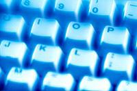 Keyboard, Close Up, Toned Image