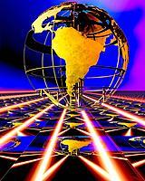a conceptual globe portrait view