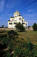 Ukraine, Crimea, greek town of Cheronese, Volodymyr cathedral