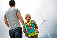 Father and son 7_9 at wind farm