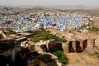 View from Mehrangarh Fort, Jodhpur, Rajasthan, India