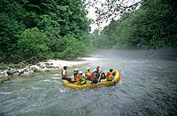 Slovenia, Triglav, national park, rafting, Soca river, water sports, tourism, Europe, sports, tourists, people, fun, r