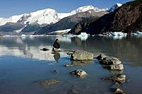 Onelli glacier lake, Perito Moreno Glacier, Los Glaciares National Park. Argentina