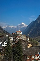 St Gotthard village,elevated view, Wassen,Canton of Uri,Switzerland