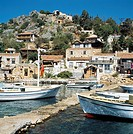 Boats in Kalekoy Harbor,Tourquoise Coast,Turkey