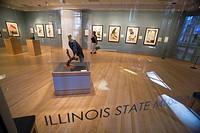 Illinois Statue Museum art gallery, Chicago, Illinois, USA
