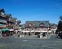 Market place in Braunfels, Germany, Europe