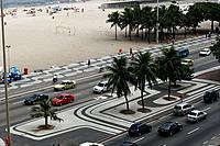 Beach, Avenue, Copacabana, Rio de Janeiro, Brazil