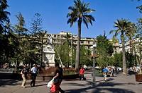 Simón Bolívar Monument, Armas Square, Santiago, Chile