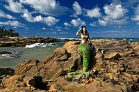 Mermaid, Itapuã Beach, Salvador, Bahia, Brazil